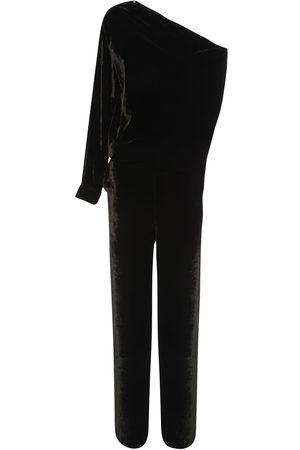 MM6 MAISON MARGIELA One Shoulder Velvet Jumpsuit