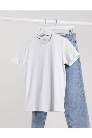 Selected The Perfect Tee' pima cotton t-shirt in