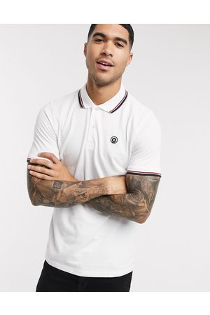 Jack & Jones Essentials slim fit tipped logo polo in