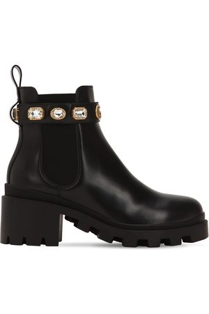 Gucci Women Boots - 40mm Embellished Leather Boots