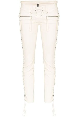Unravel Project Lace-up skinny trousers