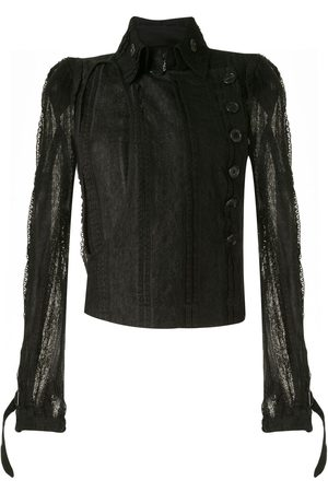 ANN DEMEULEMEESTER Sheer lace panel blouse