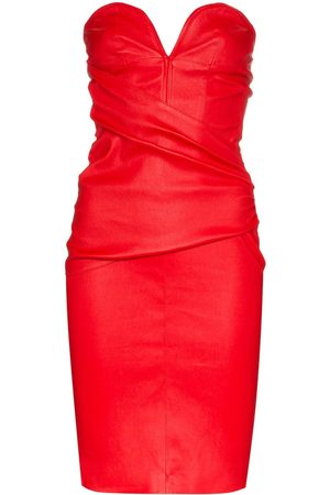 UNRAVEL PROJECT Strapless ruched mini dress