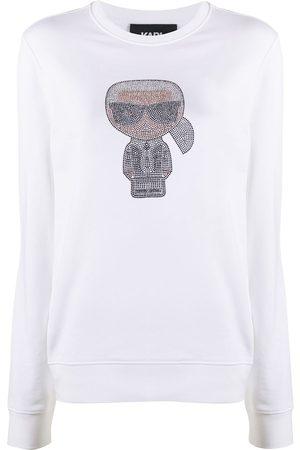 Karl Lagerfeld Women Sweatshirts - Ikonik Karl rhinestone sweatshirt