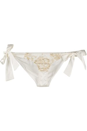 Gilda & Pearl Reverie side-tie lace and satin briefs
