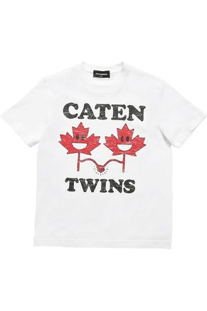 Dsquared2 Twins Printed Cotton Jersey T-shirt