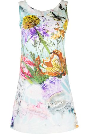 A.N.G.E.L.O. Vintage Cult 2000s embroidered watercolour print dress