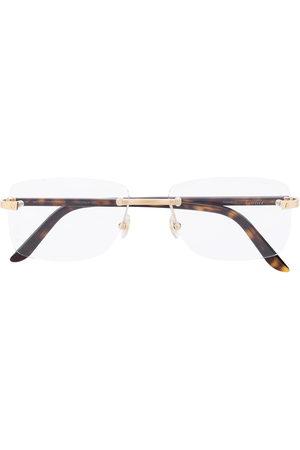 CARTIER EYEWEAR Rimless square frame glasses