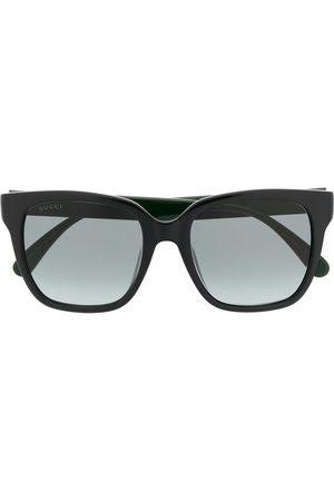 Gucci Sunglasses - Square-frame Web-stripe sunglasses
