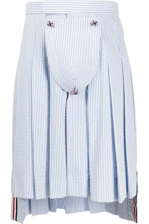 Thom Browne Seersucker Stripe Classic Pleated Skirt