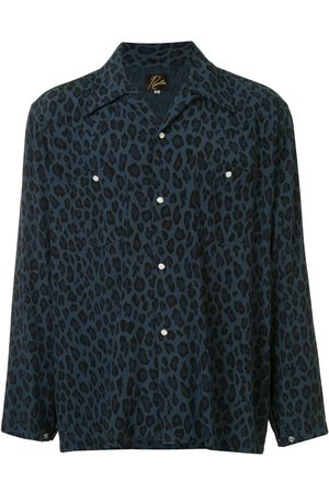 Pins & Needles Pointed collar leopard print shirt
