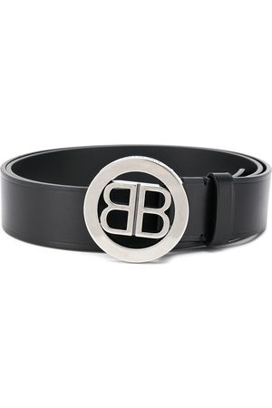 Balenciaga BB logo-plaque belt