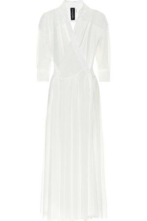 Norma Kamali Pleated midi shirt dress