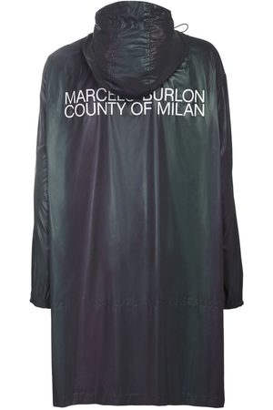MARCELO BURLON Men Coats - Reflective Logo Tech Raincoat