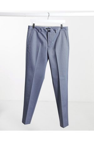 Selected Check trousers in slim fit light
