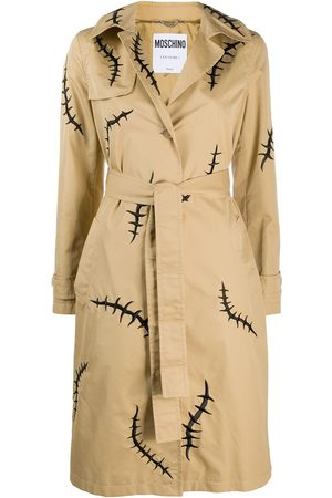 Moschino Women Trench Coats - Scar-print trench coat