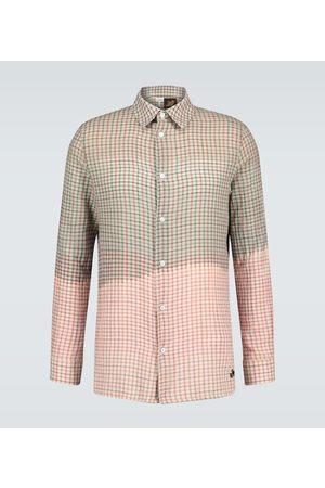 Loewe Paula's Ibiza tie-dye checked shirt