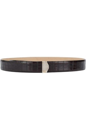 Gianfranco Ferré 2000s logo embossed buckle belt