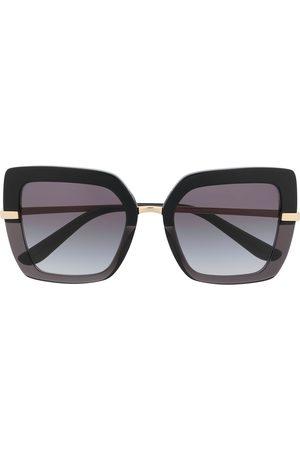 Dolce & Gabbana Half Print square-frame sunglasses