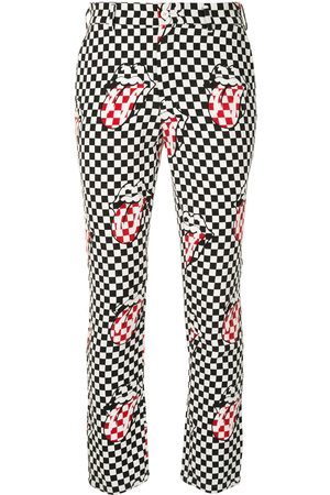 Comme des Garçons Checked Rolling Stones skinny trousers