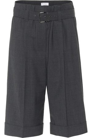 Brunello Cucinelli Wool-blend Bermuda shorts