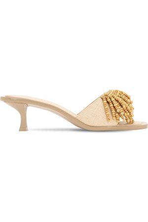Cult Gaia 55mm Uma Embellished Raffia Sandals