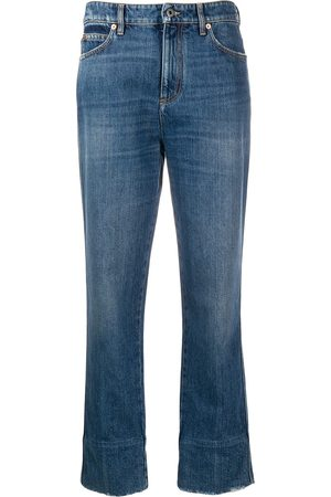 VALENTINO Cropped faded straight-leg jeans
