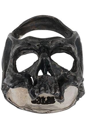 13 LUCKY MONKEY Men Rings - Hammered skull ring