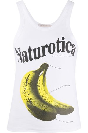 Christopher Kane Naturotica banana print sleeveless top