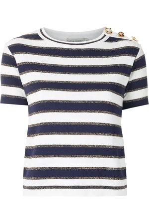 MARTHA MEDEIROS Women Short Sleeve - Crystal embellished knit T-shirt