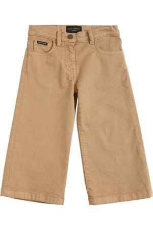 Dolce & Gabbana Wide Leg Cotton Denim Jeans