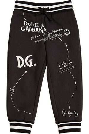 Dolce & Gabbana Logo Printed Cotton Sweatpants