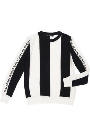 Balmain Striped Wool & Silk Knit Sweater