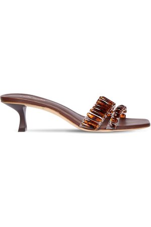 Cult Gaia 60mm Janae Embellished Pvc Sandals