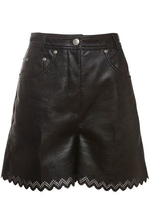 Stella McCartney High Waist Faux Leather Shorts