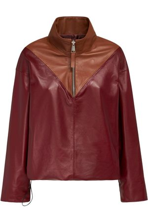 NYNNE Women Leather Jackets - Avery Two Tone Leather Top
