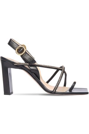 Wandler 85mm Elza Embellished Leather Sandals
