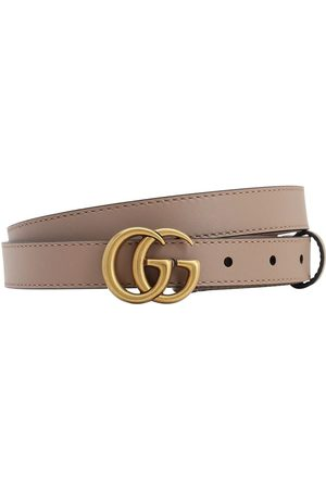 Gucci Women Belts - 20mm Gg Marmont Leather Belt
