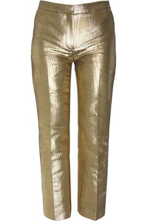 Alexander McQueen Women Formal Trousers - Moiré Cigarette Crop Pants