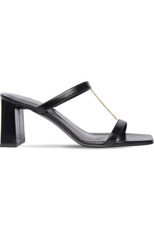 By Far 80mm Chloe Creased Leather Sandals