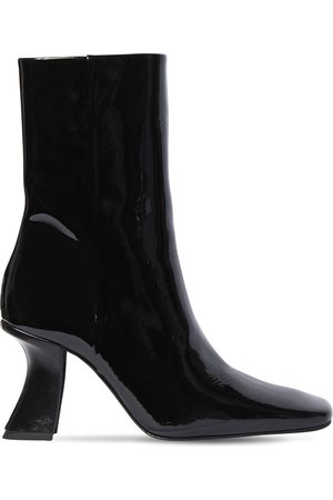 By Far 85mm Demi Patent Leather Ankle Boots