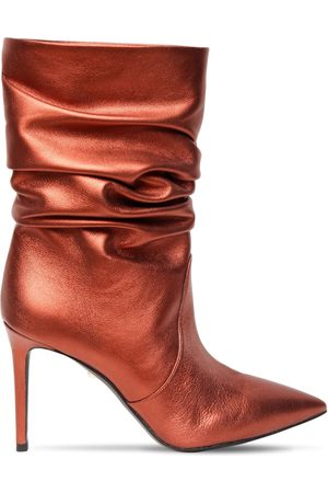 Alevì Women Ankle Boots - 90mm Metallic Leather Ankle Boots