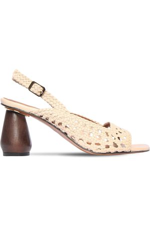 Souliers Martinez 80mm Woven Leather Sandals