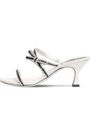 RENÉ CAOVILLA Women Sandals - 65mm Embellished Satin Sandals