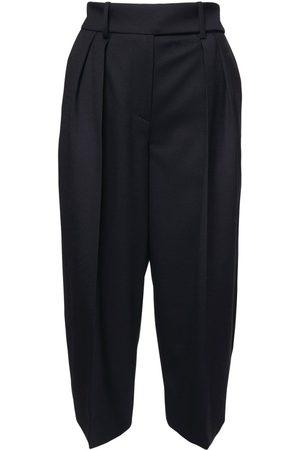 ALEXANDRE VAUTHIER Women Bermudas - High Waist Wool Flannel Bermuda Shorts