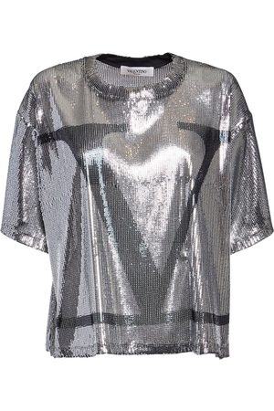 VALENTINO Go Logo Sequined Top