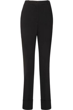 Rochas Women Trousers - Satin Straight Pants