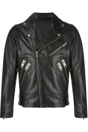 Diesel Men Rainwear - Buckled multi-pocket bikerjacket