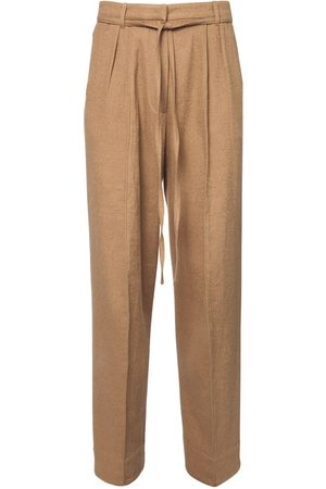ANN DEMEULEMEESTER 22cm Cotton & Wool Pants