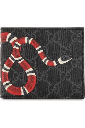 Gucci Snake Printed Coated Canvas Wallet